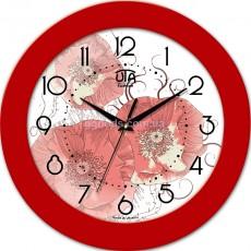 Круглые настенные часы Маки