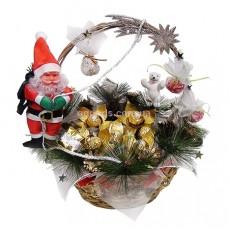 """Букет из конфет """"Санта Клаус"""""""