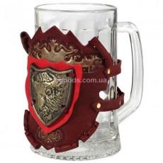 Подарочный пивной бокал Зубр