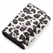 Женский кошелек из натуральной кожи ската Белый леопард