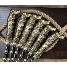 Набор шампуров в деревянном кейсе Верный друг