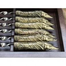 Набор шампуров в кейсе из натурального дерева Щука