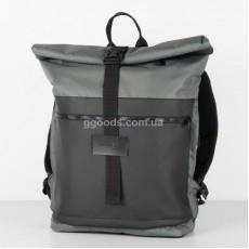Рюкзак городской Rolltop серый