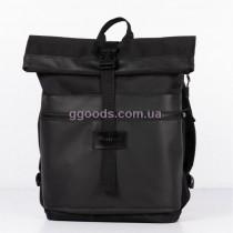 Рюкзак городской Rolltop черный