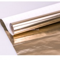 Упаковочная бумага для подарков Золото металлик 1,5 м