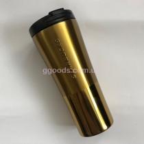 Термокружка Starbucks золотистая