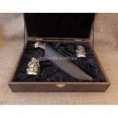 Рюмки с ножом в шкатулке Казаки