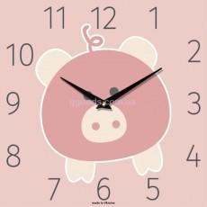 """Настенные часы """"Розовый поросенок"""""""