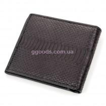 Компактное портмоне из кожи питона черное
