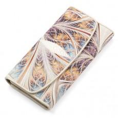 Женский кошелек из кожи ската с узором