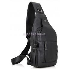 Рюкзак сумка через плечо мужской кожаный Vintage черный