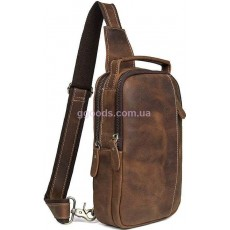 Рюкзак сумка кожаная мужская Vintage Коричневая