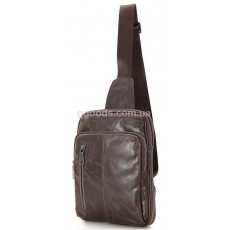 Сумка-рюкзак мужской кожаный Адванс коричневый
