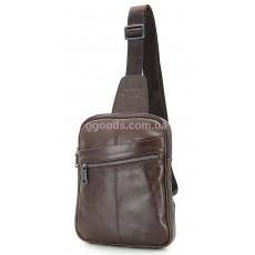 Рюкзак мужской кожаный Стив коричневый