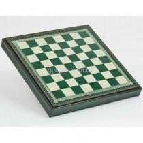 Шахматная доска зеленая с местом для укладки шахмат