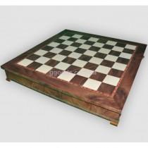 Шахматная доска деревянная с ящиком для шахмат