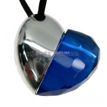 Флешка Сердце кристалл синий