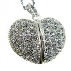 Флешка Сердце бриллиантовое