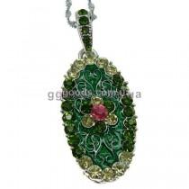 Флешка Цветок зеленая
