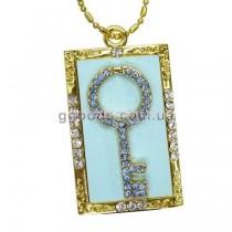 Флешка Ключ голубой