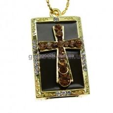 Флешка Крест коричневый