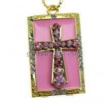 Флешка Крест розовый