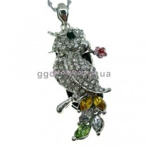 Флешка Попугай жако серебристый