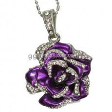 Флешка Роза фиолетовая