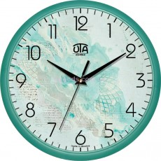 Настенные часы в бирюзовых тонах