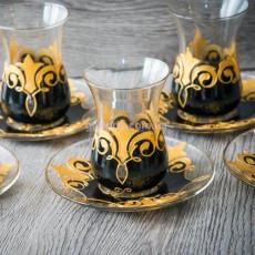 """Армуды для чая """"Black&Gold"""" 6 шт"""
