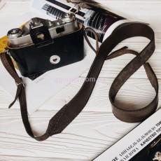 Ремешок для фотоаппарата кожаный темно-коричневый