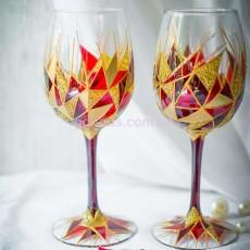 Винные бокалы «Рубиновое сердце»