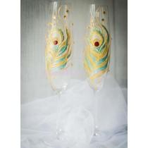 Бокалы для шампанского «Перо»