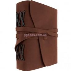 Блокнот в кожаной обложке коричневый