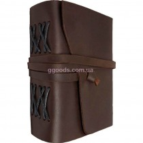 Записная книжка темно-коричневая B6 чистые листы