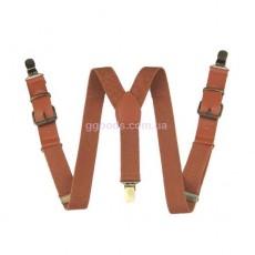 Кожаные подтяжки коричневые