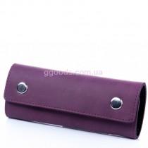 Ключница кожаная фиолетовая Shabby Plum
