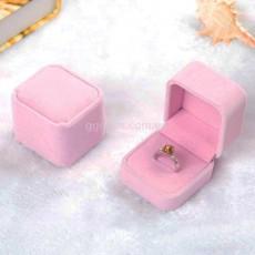 Бархатная коробочка для кольца розовая. Уценка!*