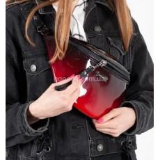 Женская поясная сумка Омбре ред