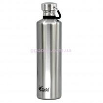 Бутылка для воды 1 литр серебристая Cheeki