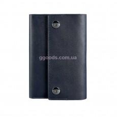 Кожаный блокнот темно-синий 5.0