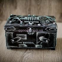 Купюрница с замком в стиле стимпанк серебро