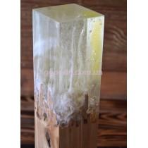 Лампа из дерева и эпоксидной смолы Ясень белый