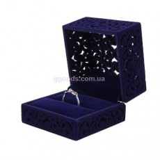 Коробочка для кольца Ажур синяя