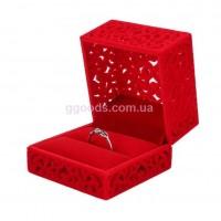 Коробочка для кольца Ажур красная