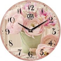 """Часы настенные """"Садовые цветы"""""""