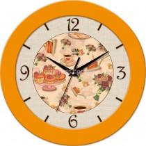 Круглые настенные часы Sweets, желтые