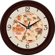 Круглые настенные часы Sweets, коричневые