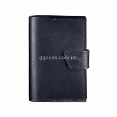 Обложка на паспорт кожаная темно-синяя