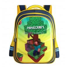 Рюкзак школьный Майнкрафт желтый